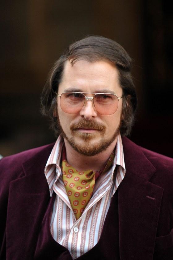 No Bat suit, just bad suit for Christian Bale, 'Hustle' co ...