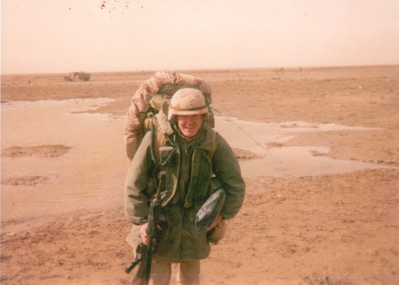 Shawn Stock during Operation Desert Storm