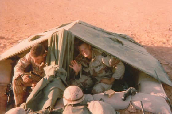 Shawn Stock in serving in Operation Desert Storm in 1991