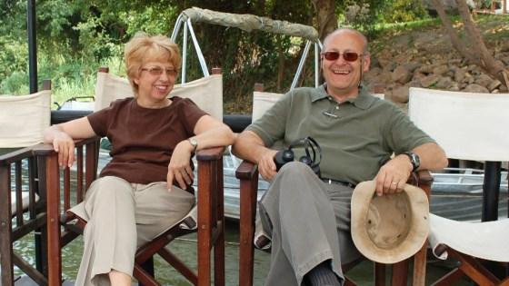 Nancy and David Writebol in happier times.