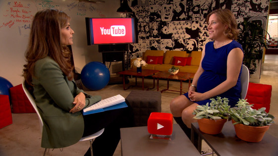 When Google got its start in a garage, it was Susan Wojcicki's garage. She was Google's 16th employee, and the first to get pregnant. Now YouTube CEO and pregnant with her fifth child, Wojcicki is a role model for many women.