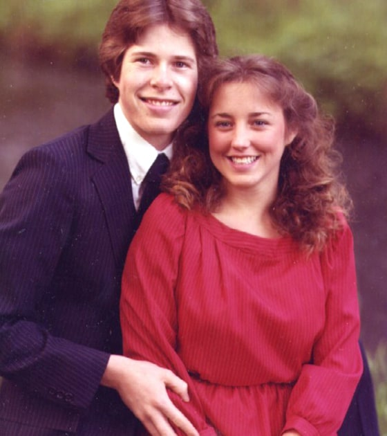 Before 19 kids: Michelle and Jim Bob Duggar before their marriage in 1984.