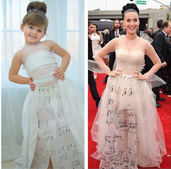 The musical note dress made famous by Katy Perry at the Grammy Awards.