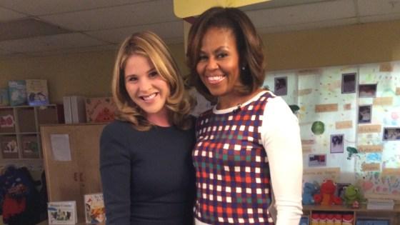 Jenna Bush Hager and Michelle Obama