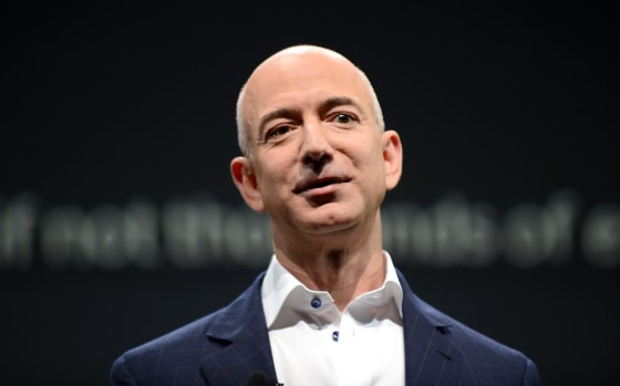 Jeff Bezos, CEO of Amazon, speaks during a press conference in this Sept. 6, 2012 file photo in Santa Monica, Calif.