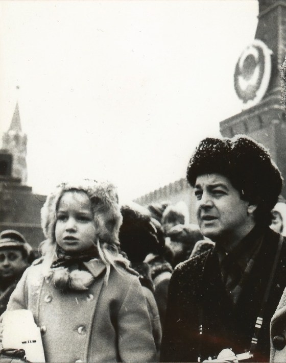 Writer Sally Hurst in Red Square