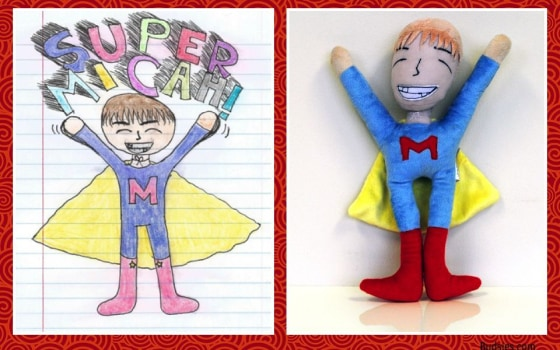 The Super Micah, drawn by Michale DeLong for her brother Micah