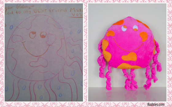Pink Octopus, drawn by Taylor Podraza, who was killed in a car crash in 2010. It was given to her best friend Maddie Vosik as a gift and way to remember her.