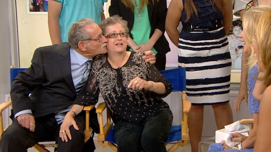 Barb Stewart and her father reunite on TODAY after 50 years apart.