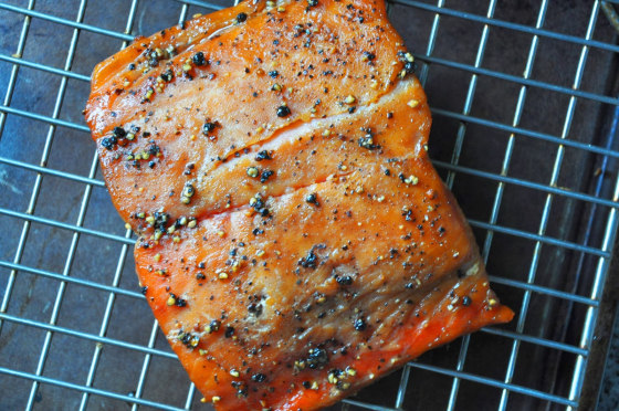 Maple and black pepper salmon