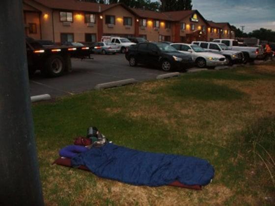 Rudy Hummel's sleeping bag