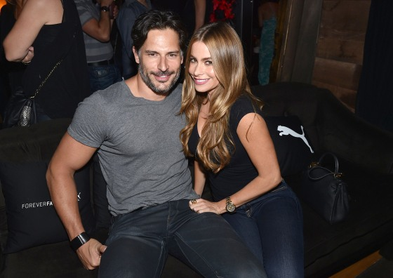 Joe Manganiello and Sofia Vergara are one happy, pretty couple.