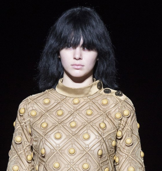 Kendall Jenner walks the runway as the Marc Jacobs Spring 2015 collection is modeled during Fashion Week, Thursday, Sept. 11, 2014, in New York. (AP P...