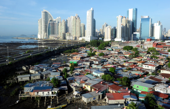 View of Punta Pacifica neighborhood, in Panama City, Panama.