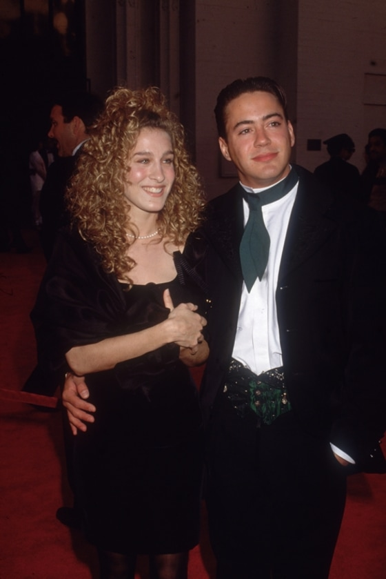 Sarah Jessica Parker and Robert Downey Jr. in 1989
