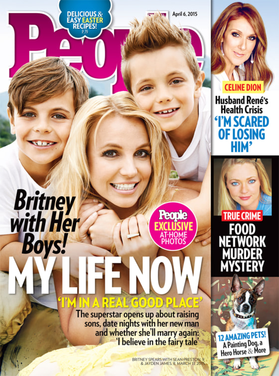 Britney Spears on the cover of People magazine.