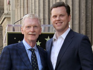 Willie and Bill Geist in 2011 at the Bill Geist Hollywood Walk Of Fame