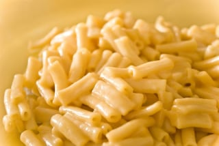 Dish of macaroni and cheese,