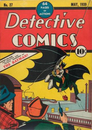 Detective Comics No. 27, Batman's first appearance.