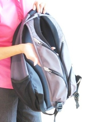 Samsonite will introduce its EZ Piken Backpack this summer, which will have zippered pockets built into the front straps for storing valuables.