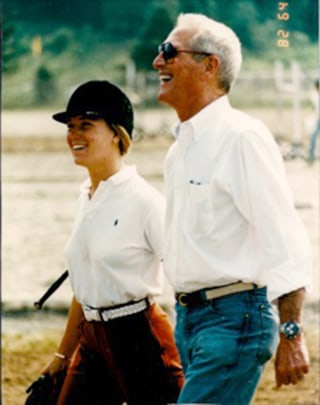 Clea Newman with her dad, Paul Newman.