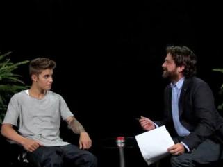 Image: Justin Bieber and Zach Galifianakis