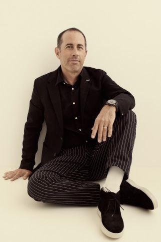 Comedian Jerry Seinfeld, 60, strikes a pose for Rag & Bone.