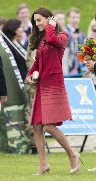 CRIEFF, UNITED KINGDOM - MAY 29:  Catherine, Duchess of Cambridge visits the Strathearn Community Campus on May 29, 2014 in Crieff, United Kingdom.  (...