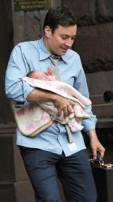 Image: Jimmy Fallon and baby Winnie.
