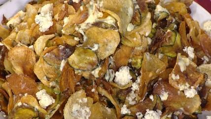Potato and zucchini chips
