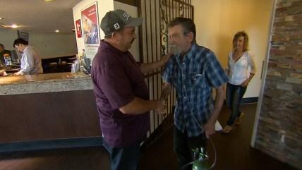 Good Samaritan reunites with man he saved.