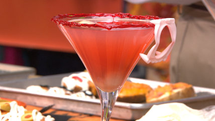 Blood-orange martinis
