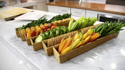 Vegetable garden crudite platter