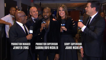 TODAY anchors, Kanye West on SNL40 red carpet