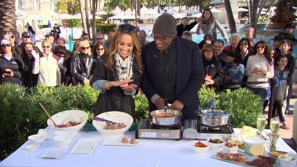 Giada cooks meatballs with Al