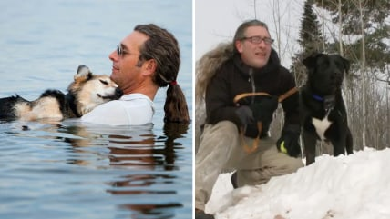 man from viral dog photo adopts puppy