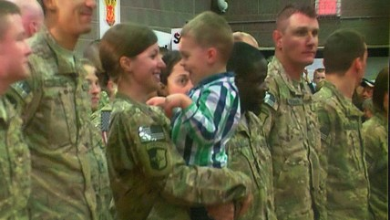 Emotional military reunion