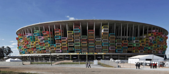 Artist's conception of plan to build housing units in Brazil's World Cup stadiums