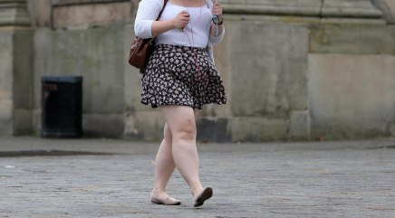 Image: An overweight woman on July 16.