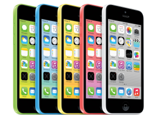 iPhone 5C comes in five colors