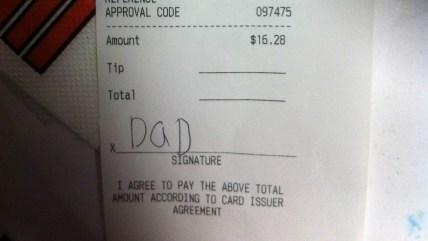 Domino's receipt