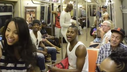 "Image: ""Lion King"" on subway"