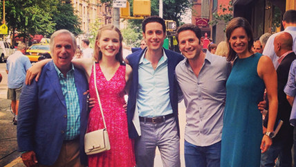 "Image: Jenna Wolfe with ""Royal Pains"" cast"