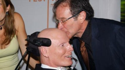 Robin Williams helped lift the spirits of old friend Christopher Reeve after Reeve's 1995 accident that left him with quadriplegia.