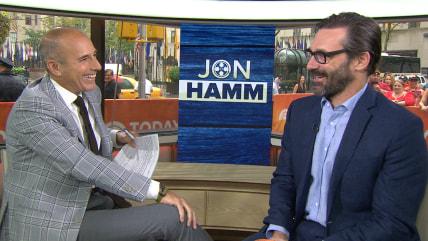 Image: Matt Lauer and Jon Hamm