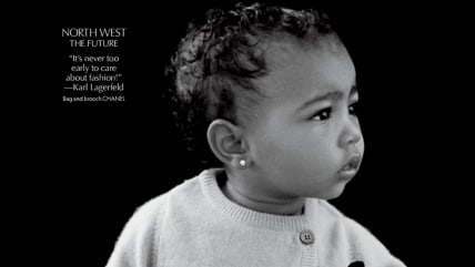North West, daughter of Kanye West and Kim Kardashian, is already a pro at posing for the cameras.