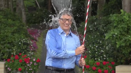 Bill Gates participating in the ALS Ice Bucket Challenge.