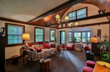 The 2,900-square-foot home of J.D. Salinger has a brick fireplace, four bedrooms and five bathrooms.