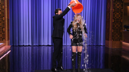Image: Jimmy Fallon and Lindsay Lohan