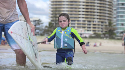 6-year-old surfer Quincy Symonds.